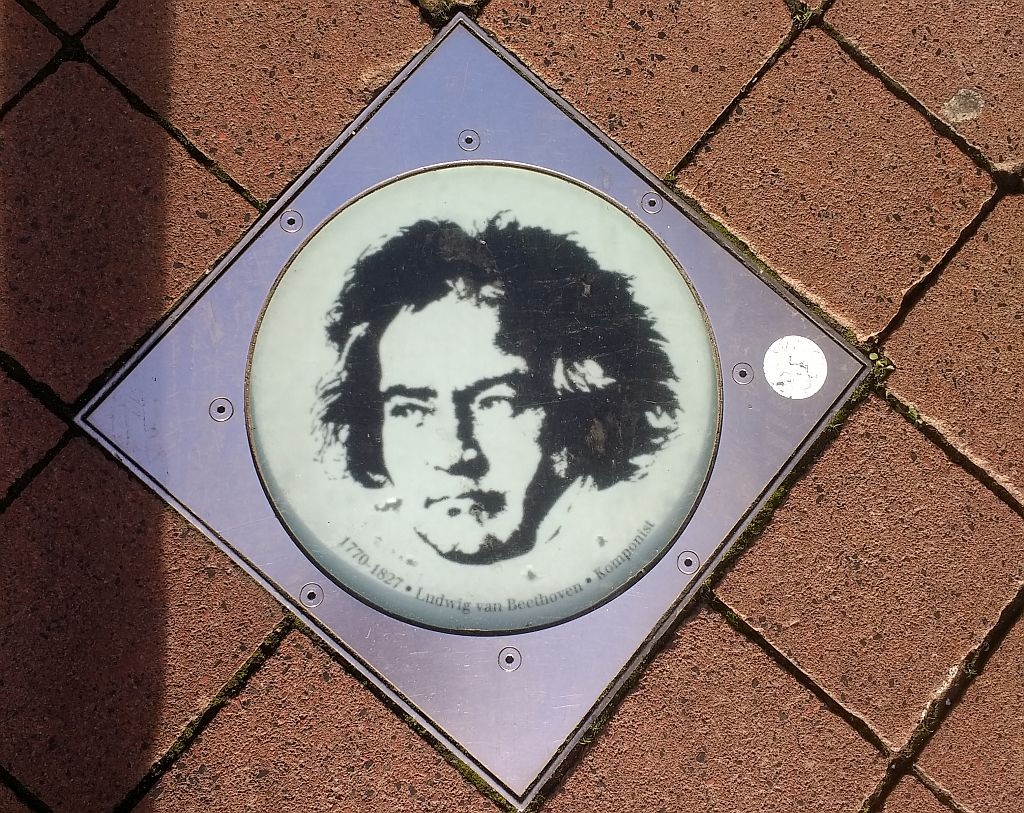 Beethoven glass picture