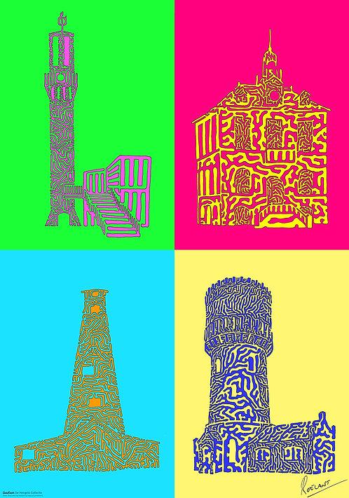 POSTER: De Hengelo Collectie - 4 OneLiners op één poster!