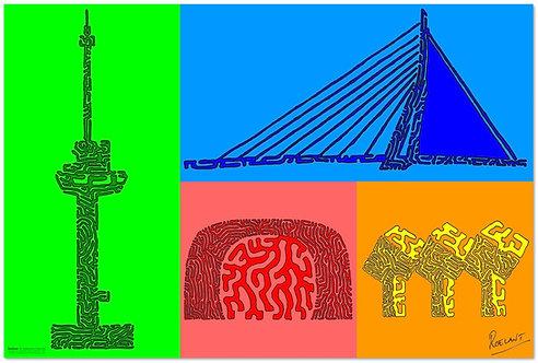 POSTER: De Rotterdam Collectie - 4 OneLiners op één poster!