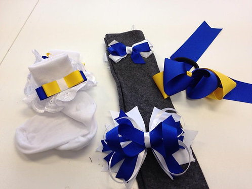 St Marnock's Primary Knee High Socks With Bow