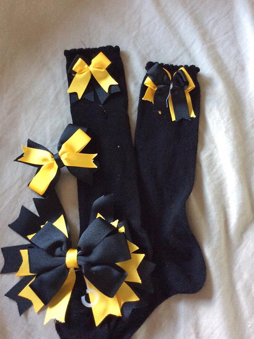 Neilston Primary Knee High Socks With Bows