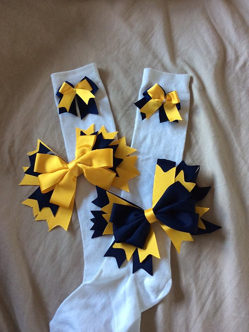 St John's Primary Knee High Socks With Bow