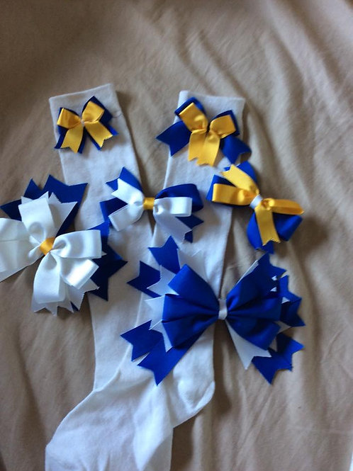 Hillview Primary Knee High Socks With Bow
