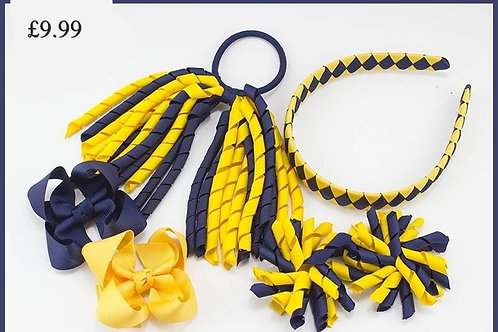 Gowanbank Primary Head Band, Bow, Bobble Set