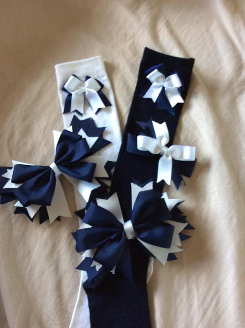 Braidbar Primary Knee High Socks With Bows