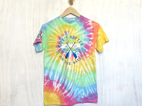 Life's Better On The Water Tie-Dyed Tee