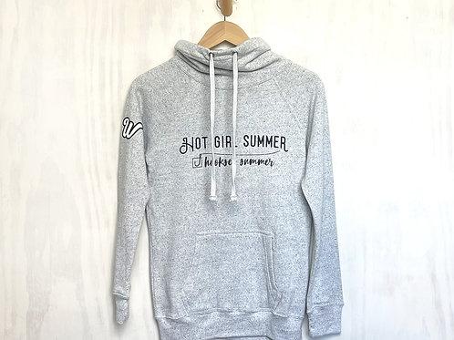 Women's Hot Girl Summer Space-Dyed Cowl Neck Sweatshirt