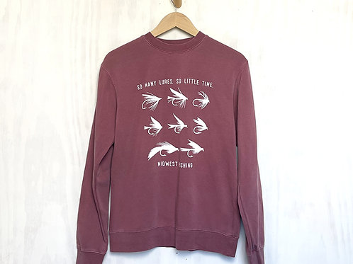 So Many Lures So Little Time Crewneck
