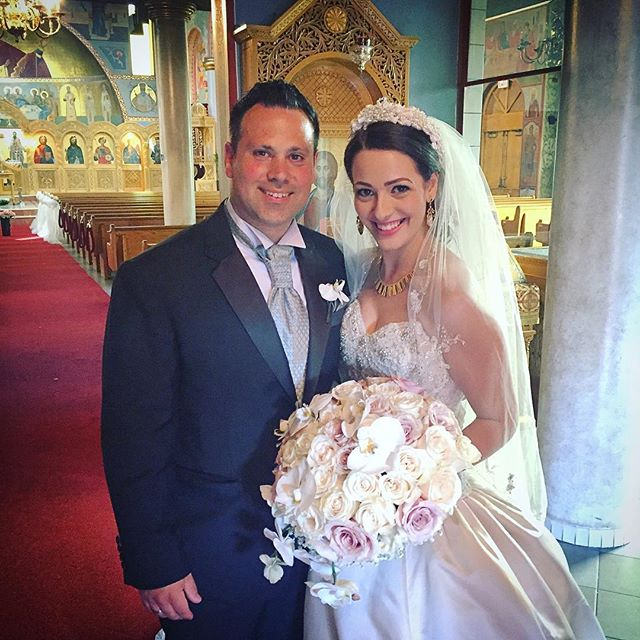 Congrats to Jim and Cori! We loved making your floral visions a reality! #LookingGood