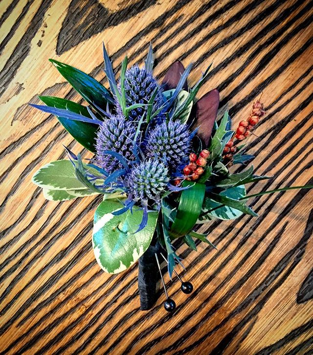 #BlueThistle #Boutonnière #anthiflowers