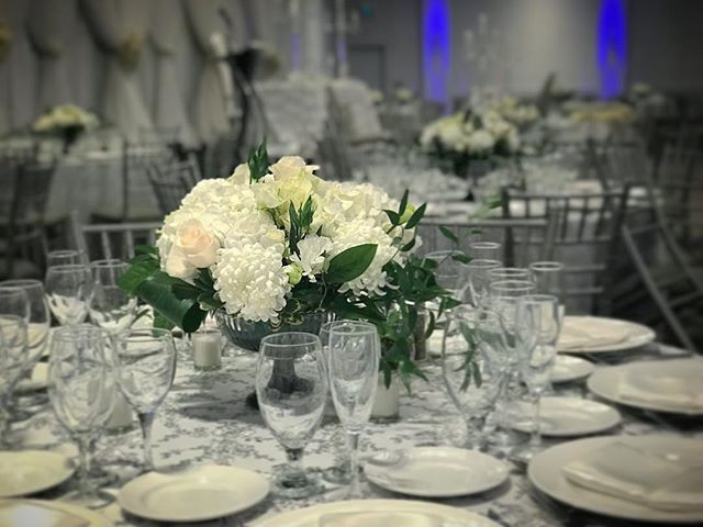 One of last weekend's weddings! #wedding #centrepieces #weddingseason #anthiflowers