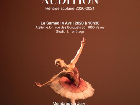 Audition Danse-études 2020-2021