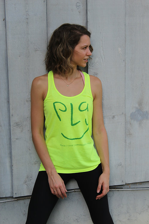 Women's Yellow Racerback Tank