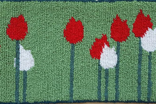 Red and White Tulips by Debbie Doiron