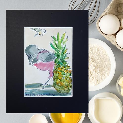 Recipe/Art card: Pineapple Brownie by Jaime Lee Lightle