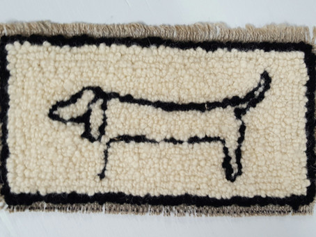 Rug Hook art inspired by Picasso!