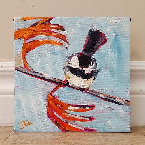 Chickadee in the Breeze by Jaime Lee Lightle
