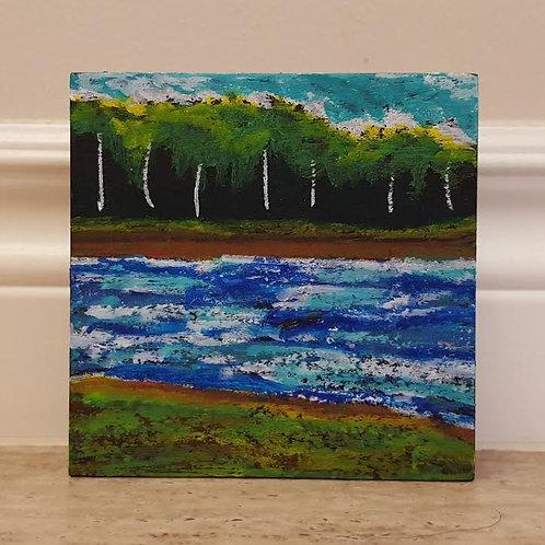Stroll on Shore 3 by James C E Lightle