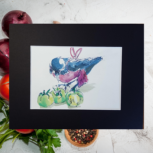 Recipe/Art card: Green Tomato Chow by Jaime Lee Lightle