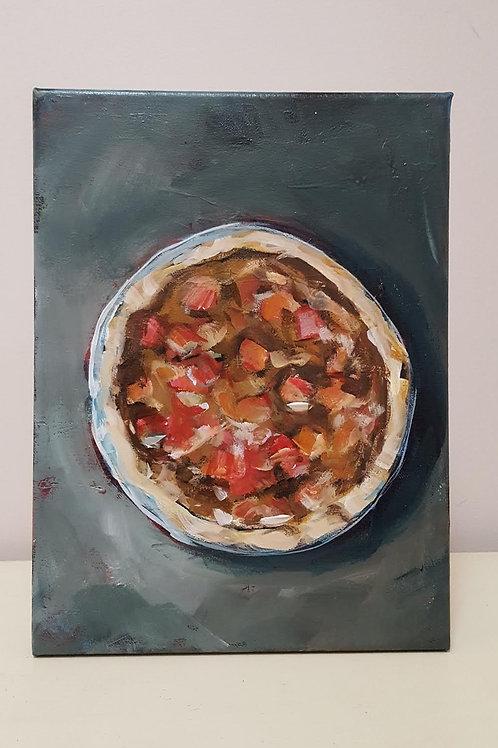 Rhubarb Custard Pie by Jaime Lee Lightle