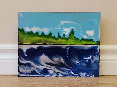 Evergreens on Shore by James C E Lightle