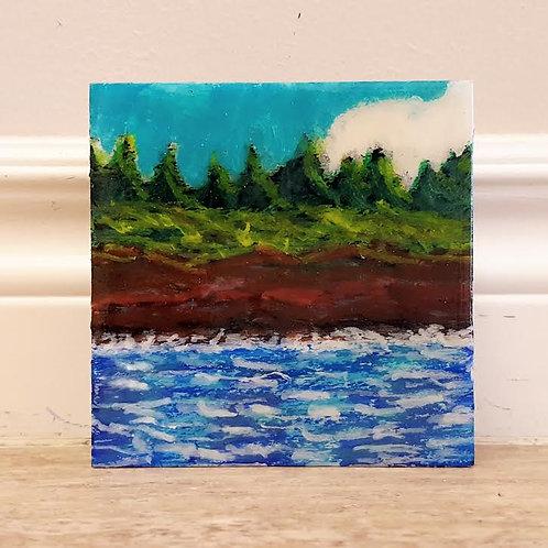 Splash on Shore by James C E Lightle