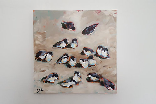 Gathering of Chickadees by Jaime Lee Lightle