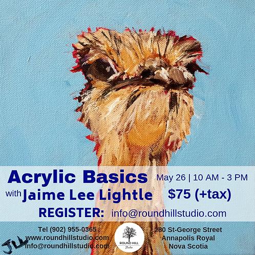 Acrylic Basics with Jaime Lee Lightle