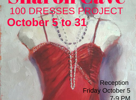 """Sharon Cave's """"100 Dresses Project"""" in OCTOBER"""