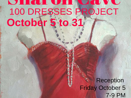 "Sharon Cave's ""100 Dresses Project"" in OCTOBER"