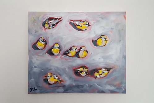 Gathering of Goldfinches by Jaime Lee Lightle
