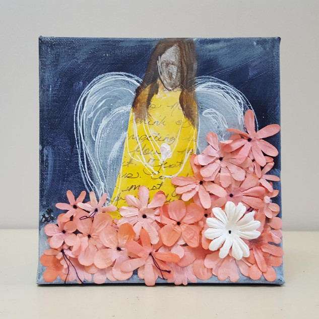 """Angel and Flowers"""