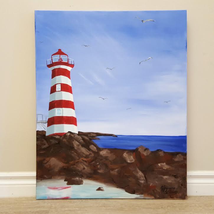 Beautiful Day Lighthouse
