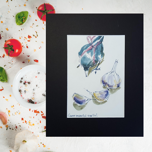 Recipe/Art card: Garlic Aioli by Jaime Lee Lightle