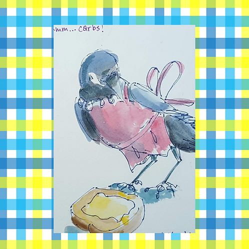 Recipe/Art card: Corn Bread by Jaime Lee Lightle