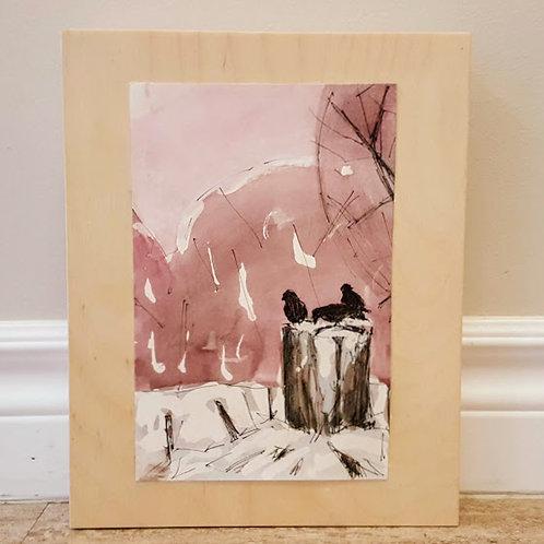 Crows on Stump by Jaime Lee Lightle