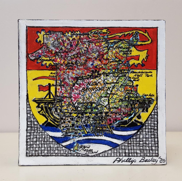 """New Brunswick Flag/Map Merge"" SOLD"