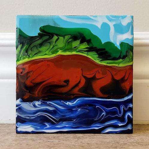 Beautiful Blue Sea by James C E Lightle