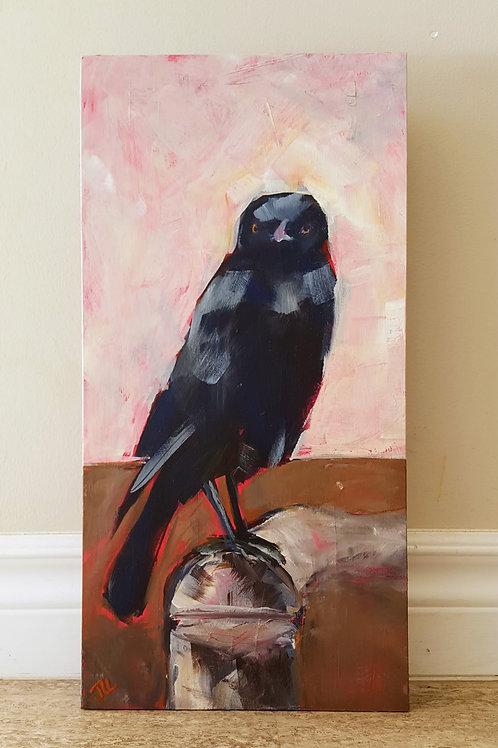 Raven on Stump by Jaime Lee Lightle