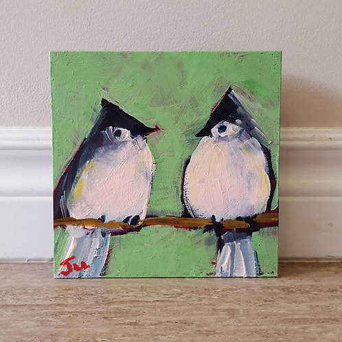 Two Tufted Titmouse' by Jaime Lee Lightle