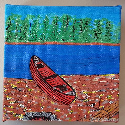 """""""Canoe near water"""" by James C E Lightle"""