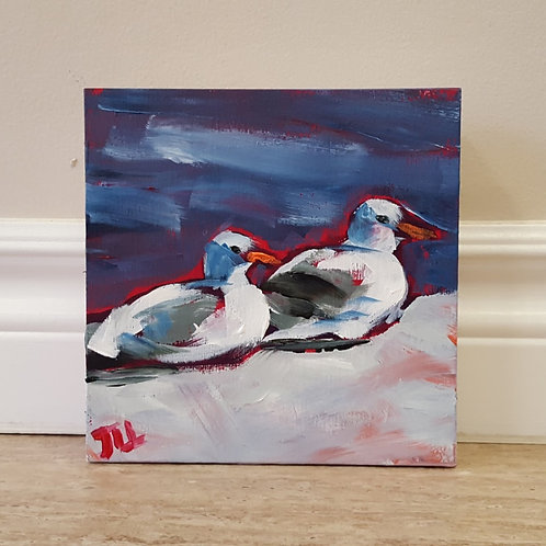 Two Gulls on Wharf by Jaime Lee Lightle