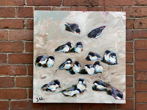 Gathering of Chickadees by Jaime Lee Lightle