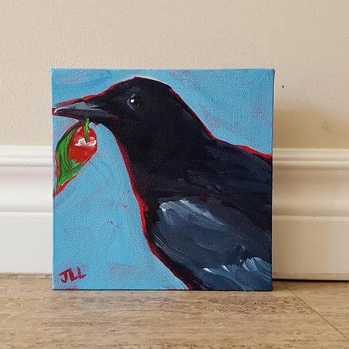Cherry on Blue 1 by Jaime Lee Lightle