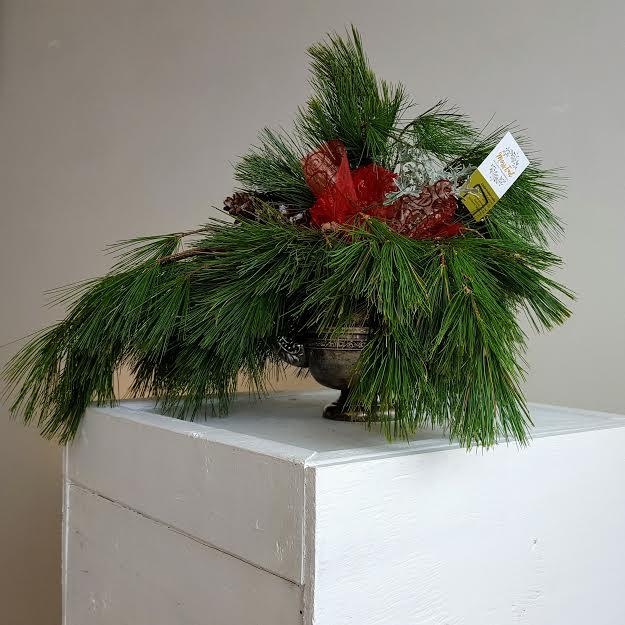 Pines in Silver Tea Pot