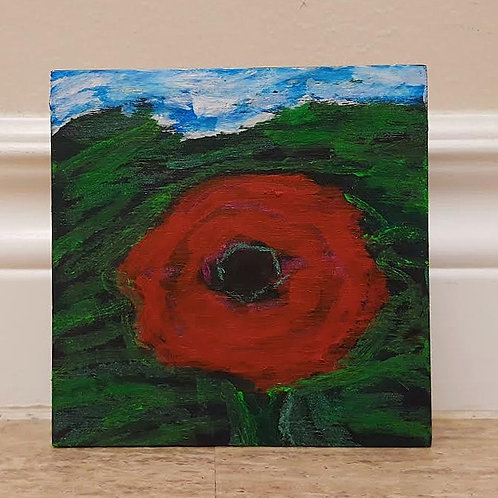 Solitary Poppy by James C E Lightle