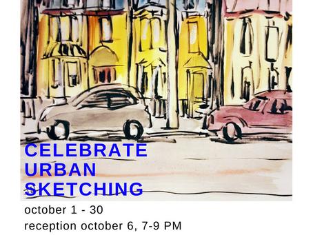 Exhibit Celebrating Urban Sketching