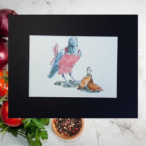 Recipe/Art card: Sweet Potato Biscuit by Jaime Lee Lightle