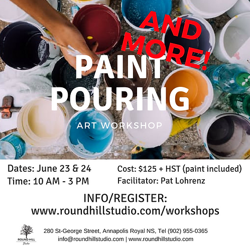 Paint Pouring AND MORE Workshop