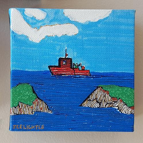 """Fishing Boat on Water"" by James C E Lightle"